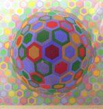 ヴィクトル・ヴァザルリ「Untitled 1」シルクスクリーン 65.5×65.5cm