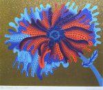 草間彌生「FLOWER B」シルクスクリーン 50.9×69cm