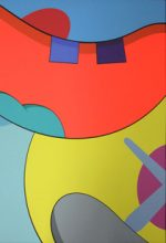 KAWS「NO REPLY #1」シルクスクリーン 88.9×58.5cm