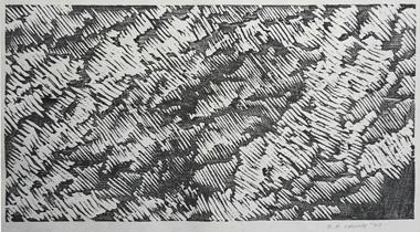 鄭相和「無題」木版画