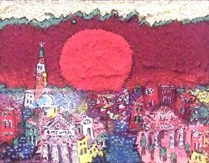 絹谷幸二「ベネチア」油彩0号