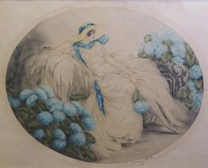 ルイ・イカール「あじさい」銅版画