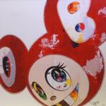 村上隆「And Then x6 3000赤」版画50×50cm