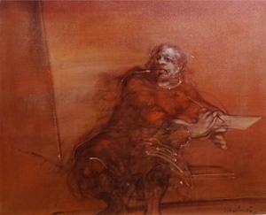クロード・ワイズバッシュ「画家」油彩