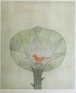 南桂子「秋」銅版画