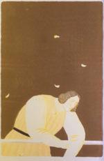 有元利夫「秋」版画 リトグラフ48×32.5cm