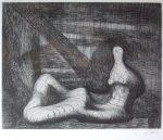 ヘンリー・ムーア「作品」銅版画 22.5×28.3cm