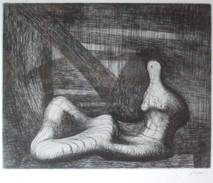 ヘンリー・ムーア「Reclining Figure Piranesi Background III」
