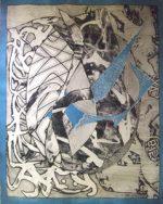 フランク・ステラ「Swan Engraving Blue」版画98.4×80cm
