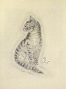 藤田嗣治「猫の本 クレオパトラ」