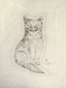 藤田嗣治「猫の本 メッサリーナ」