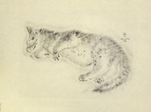 藤田嗣治「猫の本 オリバ」