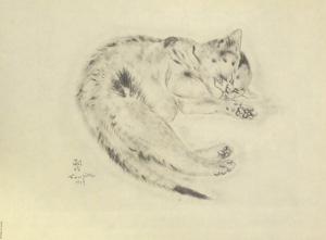 藤田嗣治「猫の本 パシパエ」