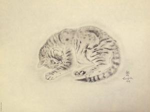 藤田嗣治「猫の本 パシテア」