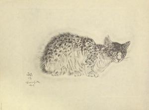 藤田嗣治「猫の本 サッフォー」