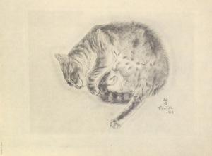 藤田嗣治「猫の本 セミラミス」