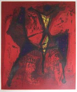 マリノ・マリーニ「騎士1」銅版画