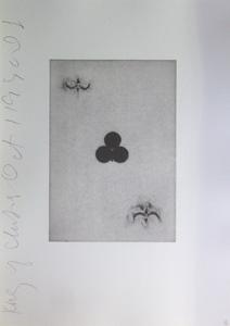 ドナルド・サルタン「クローバーのエース」銅版画