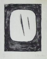 ルーチョ・フォンタナ「Concetto Spaziale」銅版画15×11.5cm