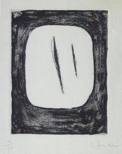 ルーチョ・フォンタナ「Concetto Spaziale」銅版画