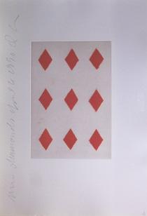 ドナルド・サルタン「ダイヤ9」銅版画