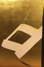 篠田桃紅「熱望 EAGER」日本画60×40cm