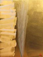 篠田桃紅「星霜 ELAPSE-B」日本画40×30cm