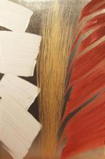篠田桃紅「星霜 ELAPSE-D」日本画60×40cm