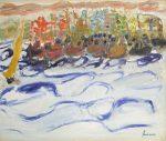 ジャン・フサロ「Fete des Pecheurs」油彩8号