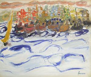 ジャン・フサロ「Fete des Pecheurs」油彩