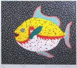 草間彌生「魚」シルクスクリーン46×53.5cm