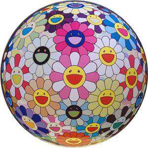 村上隆「フラワーボール ピンク」版画