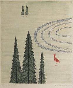 南桂子「冬」銅版画