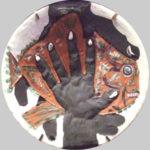 パブロ・ピカソ「Hand with fish」セラミック32cm