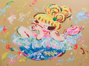 ロッカクアヤコ「早生まれ行進曲(3)」版画
