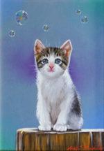 八代亜紀「ひだまり」油彩4号