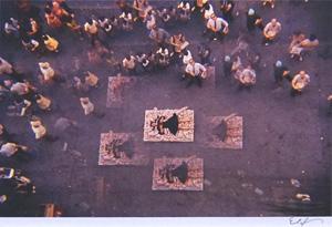 細江英公「草間彌生ハプニング#3 NY 1964年」写真