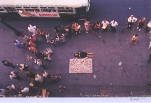 細江英公「草間彌生ハプニング#4 NY 1964年」写真