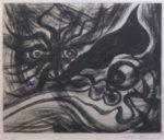 岡本太郎「眼と眼」銅版画29×36cm