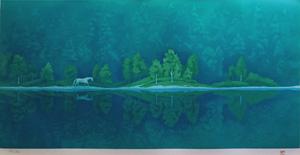 東山魁夷「緑の詩」版画