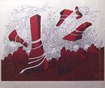 ジャン・ミシェル・フォロン「Monstres」版画 58×75cm