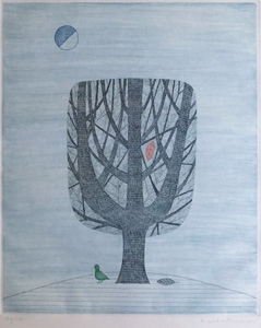 南桂子「巣」銅版画