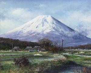 林喜市郎「忍野富士」油彩8号