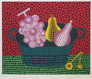 草間彌生「Panier de Fruits(II)」版画
