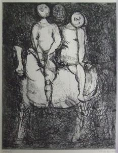 マリノ・マリーニ「散歩」銅版画