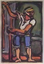 ジョルジュ・ルオー「漁夫」銅版画31.8×21.9cm