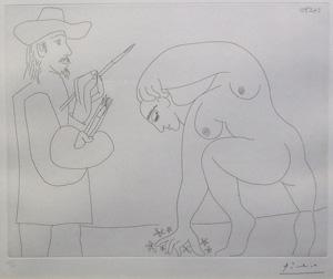 ピカソ「画家とモデル」1911