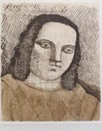 有元利夫「展覧会ポスター1982年」銅版画17.1×14.1cm