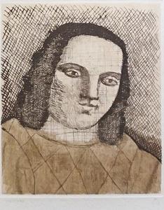 有元利夫「展覧会ポスター1982年」銅版画