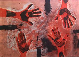ルフィーノ・タマヨ「赤い手」銅版画